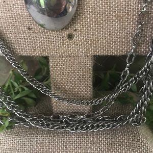 Vintage Jewelry - Vintage Mutlichain drop pendant necklace